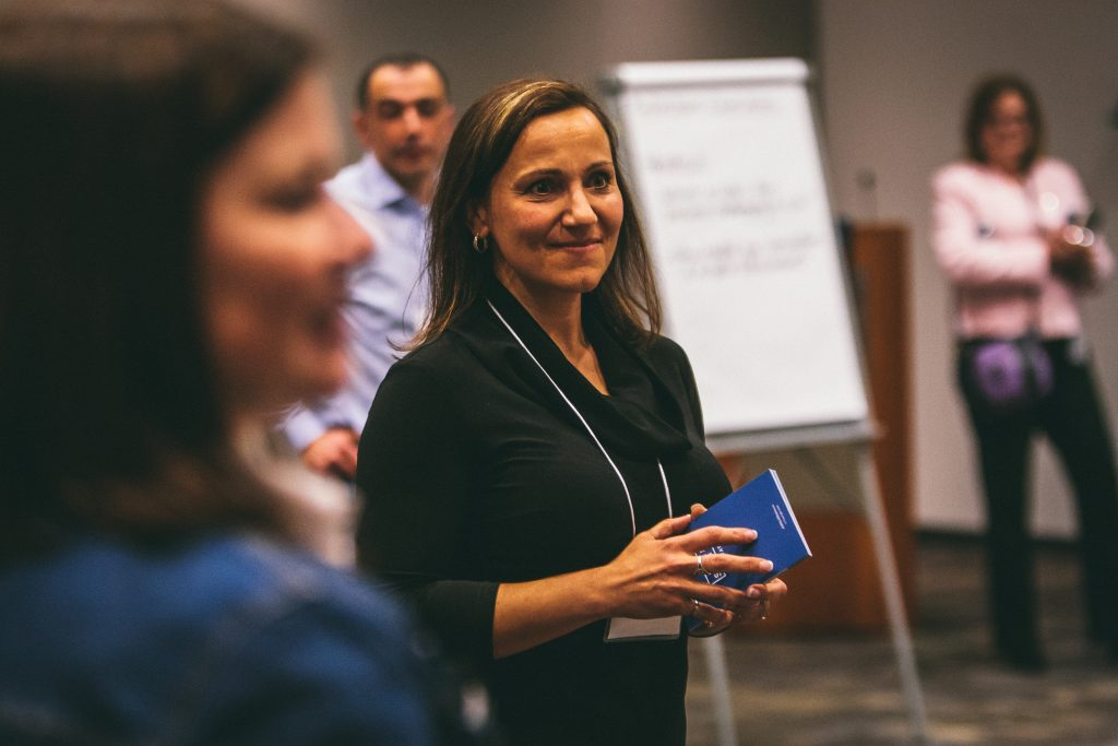 janey piroli standing in a facilitation session
